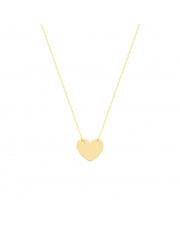 Łańcuszek złoty celebrytka z sercem pr. 585