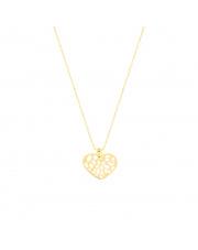 Łańcuszek złoty celebrytka z ażurowe serce pr. 585
