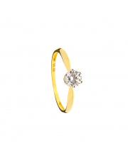 Złoty pierścionek z cyrkonii - pr. 585
