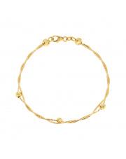 Złota bransoletka pleciona z kulkami pr.585