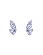 Srebrne kolczyki sztyfty skrzydło motyla pr. 925