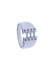 Srebrny pierścionek Gorset pr. 925