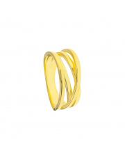 Pozłacany pierścionek pr. 925