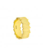 Pozłacany pierścionek zygzak pr. 925