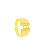 Pozłacany pierścionek Gorset pr. 925