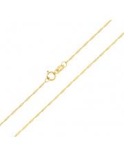 Złoty łańcuszek - Singapur 45 cm pr. 333