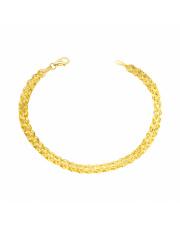 Złota bransoletka z listków - 20cm - pr. 585