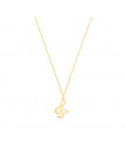 Złoty łańcuszek celebrytka klucz wiolinowy - pr. 333