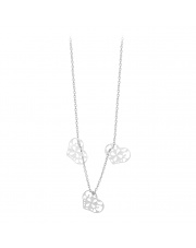 Srebrny naszyjnik celebrytka z sercami - pr. 925