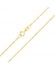 Złoty łańcuszek Singapur 45cm - pr. 585