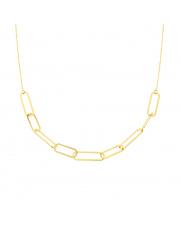 Łańcuszek złoty celebrytka spinacze pr.585