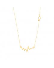 Złoty łańcuszek celebrytka puls i serce pr. 585