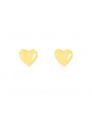 Złote kolczyki sztyfty serce pr. 333