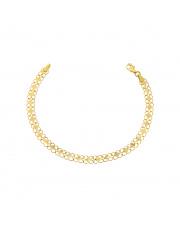Złota bransoletka ażurowa z rombami 18,5cm pr. 585