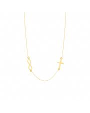 Złoty łańcuszek krzyżyk i nieskończoność pr.585