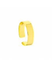Pozłacany pierścionek obrączka pr. 925