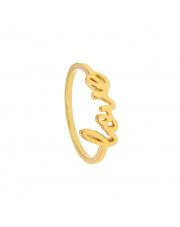 Złoty pierścionek z napisem Love - pr. 585