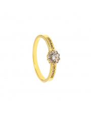 Złoty pierścionek z cyrkoniami - pr. 585