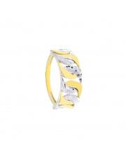 Złoty pierścionek diamentowane koła - pr.333