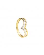 Złoty pierścionek diadem - pr. 333