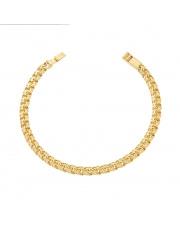 Złota bransoleta - splot garibaldi - pr.585