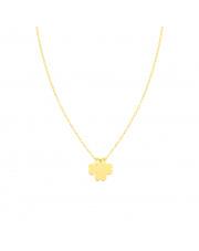Złoty łańcuszek celebrytka z koniczynką pr. 585