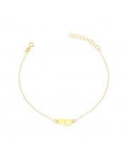 Złota bransoletka z sercem i literką D - pr. 585