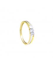 Złoty pierścionek z cyrkonią - pr.333