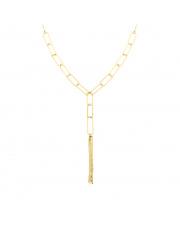 Złoty łańcuszek spinacze - krawatka pr. 585