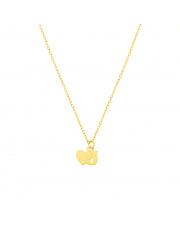 Złoty łańcuszek celebrytka serce i literka J pr.585