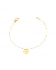 Złota bransoletka z motylkami w kole pr. 585