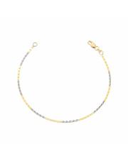 Złota bransoletka z blaszkami pr. 585