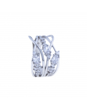 Srebrny pierścionek z cyrkoniami  pr. 925