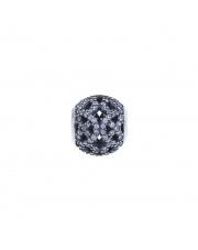 Charms - Ażurowa kulka z cyrkoniami - pr.925
