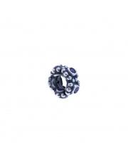 Charms - Kulka z fioletowymi cyrkoniami - pr.925