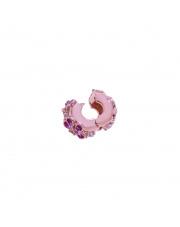 Charms - Pozłacana kulka z kwiatkiem -  pr.925