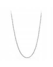 Srebrny naszyjnik - splot śnieżka 50cm - pr. 925