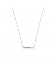 Srebrny naszyjnik z pałeczką pr. 925