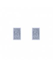 Srebrne kolczyki sztyfty z błyszczącym prostokątem pr.925