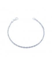 Srebrna bransoleta długość 20,5 cm - splot królewski - pr.925