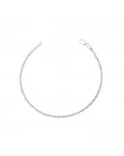 Srebrna bransoleta długość 19,5 cm - splot królewski - pr.925