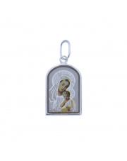 Srebrna zawieszka medalik z Matką Boską z Dzieciątkiem  pr. 925