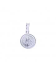 Srebrna zawieszka medalik z M.B. Częstochowską  pr. 925