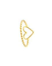Złoty pierścionek - obrączka z sercem - pr.585