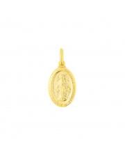 Złota zawieszka Cudowny medalik z Matką Boską pr. 333