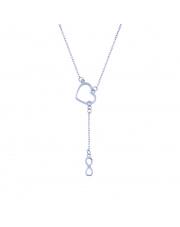 Srebrny naszyjnik z motywem serca i nieskończonością pr. 925