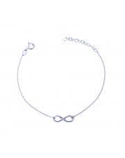 Srebrna bransoletka celebrytka ze znakiem nieskończoność - pr. 925
