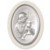 Obraz srebrny Pamiątka pierwszej komunii św. Chłopiec Biały