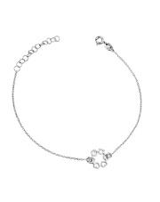 Srebrna bransoletka celebrytka koło z sercami pr.925
