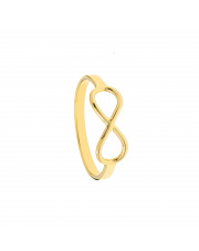 Złoty pierścionek - obrączka z nieskończonością - pr.585